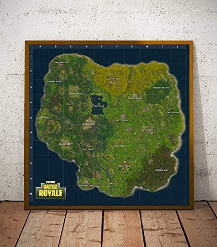 Amazon Com Fortnite Map Limited Poster Artwork Professional