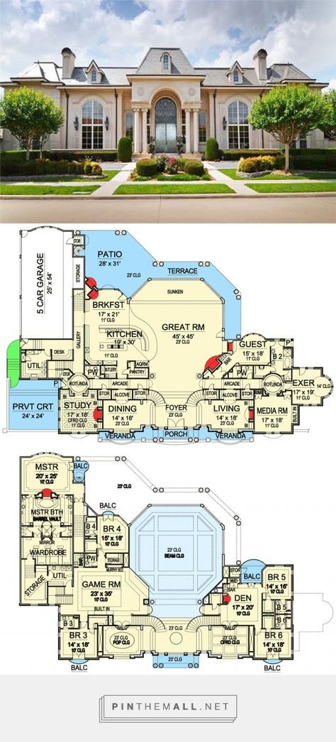 Plan 36147tx Private Balconies For All House Plans Mansion Mansion Plans Luxury House Plans