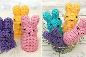 Crochet Easter Peeps set of 2 or 4!