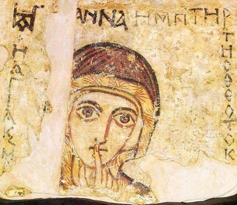 Fresk św. Anny z Faras | PRAWOSŁAWNY PARTYZANT