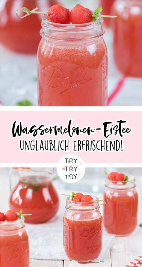 Wassermelonen-Eistee