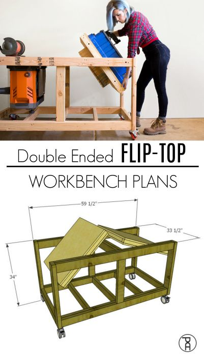 Double Ended Flip Top Workbench Plans Video Tutorial