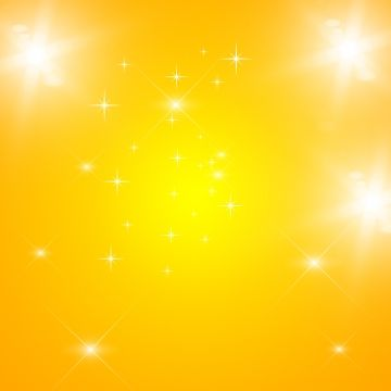 Yellow Background Multipurpose With Glittering Stars And Light Png