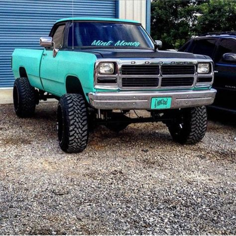 Good looking Dodge Truck… and great nickname for it! - Cars World Old Dodge Trucks, Jacked Up Trucks, Cool Trucks, Big Trucks, Pickup Trucks, Truck Memes, Dodge Pickup, Diesel Trucks, Dodge Diesel