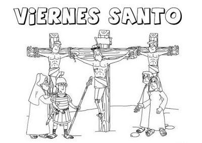 Crucifixion De Jesus Para Colorear Crucifixion De Jesus Imagenes De Viernes Santo Viernes Santos