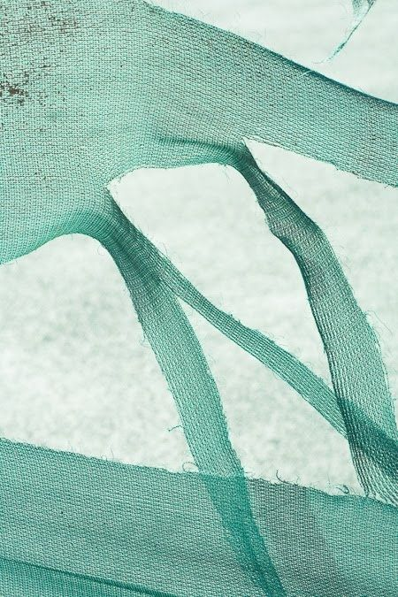 green white fabric