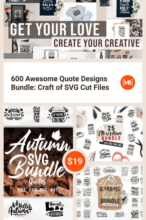 600 Awesome Quote Designs Bundle: Craft of SVG Cut Files - Master Bundles
