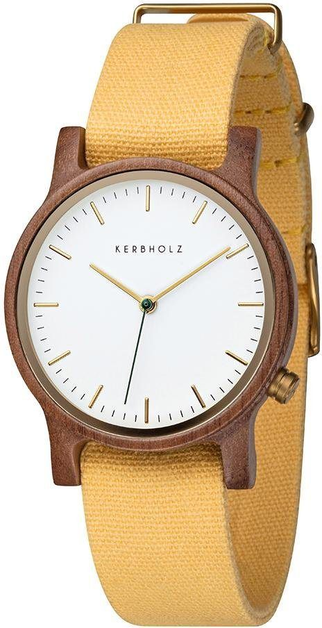 KERBHOLZ Quarzuhr »Wilma Walnut Yellow«   Fashion_Sept_01