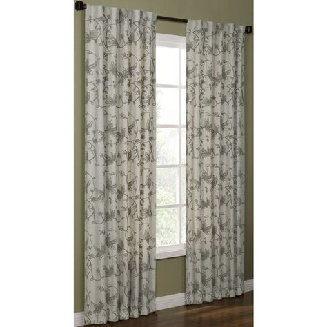Shop Allen Roth 63 In L Pewter Elmbridge Curtain Panel At Lowes