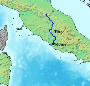 Worksheet. I chose a map of the Tiber River because it shows where Rome was