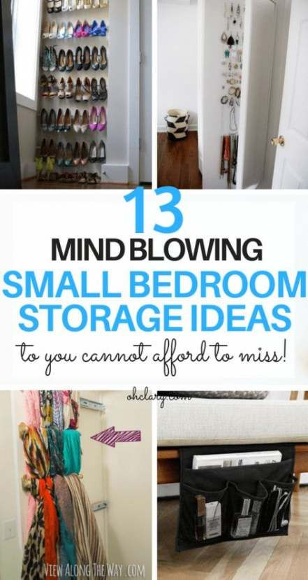 New Diy Room Decir For Couples Small Spaces 41 Ideas Diy With Images Small Bedroom Storage Bedroom Organization Diy Small Bedroom Organization