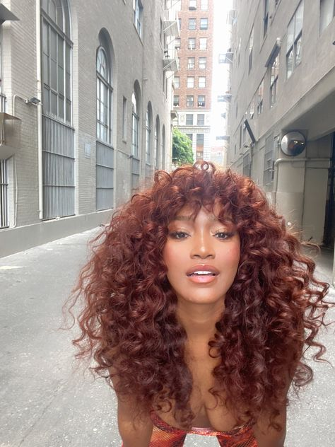 Hair Inspo, Hair Inspiration, Curly Hair Styles, Natural Hair Styles, Colored Curly Hair, Fall Hair Colors, Black Girls Hairstyles, 70s Disco Hairstyles, Dyed Hair