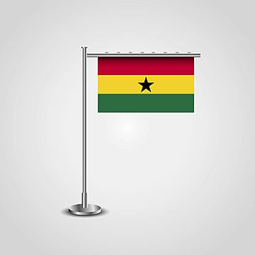 Ghana Flag Pole Flag Icons 6 6th Png And Vector With Transparent Background For Free Download Flag Icon Flag Vector Ghana Flag