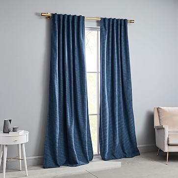 Textured Weave Curtain Amp Blackout Lining Shadow Blue Blue