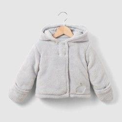 Jas in fleece met kap 0 mnd 3 jr La Redoute Collections