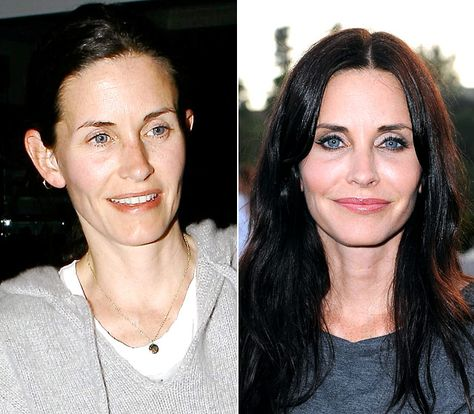Courteney Cox  On left on March 31, 2008  Right on June 28, 2011