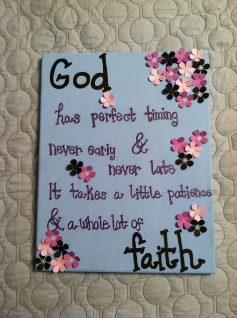 Christian Quote Canvas Painting Made to by AnnaCarolinesCrafts. $10.00, via Etsy.