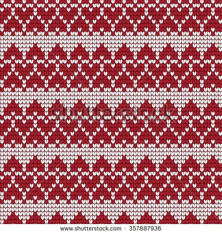 Ornamental Pattern For Knitting And Embroidery Heart Stock Photos ...