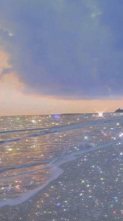 Bling Effect On Beach In 2020 Sky Aesthetic Aesthetic Backgrounds Landscape Wallpaper