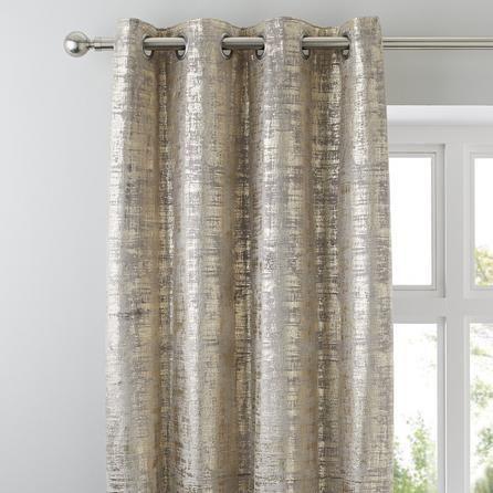 Dunelm Fully Lined Gold 228x228cm Romano Eyelet Curtains In 2020 Gold Curtains Curtains Cool Curtains