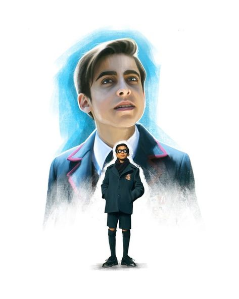The Umbrella Academy - Number Five, (The Boy). Printed Digital Painting