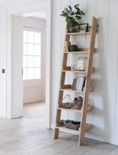 Decoratie Ladder Hambledon Eiken Decoratieve En Veelzijdige Ladder Gemaakt Van Ruw Eiken Voor Je Allermo Boekenkast Met Ladder Ladder Boekenkast Ladderplank