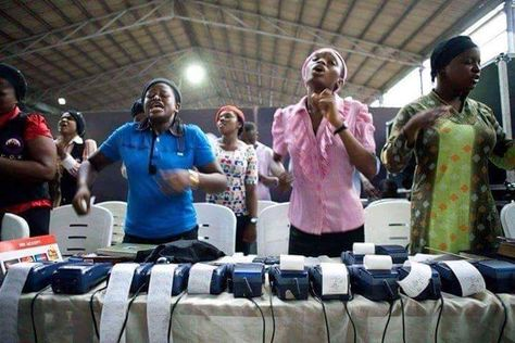 At a church in Lagos, Nigeria during offering time: https://www ...