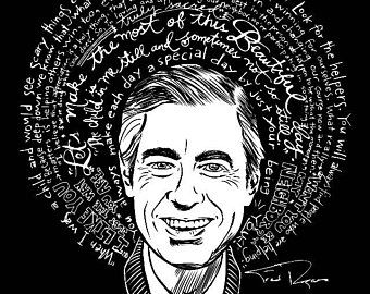 Saint Fred Rogers Mister Rogers Artist Saint T Shirt Free Shipping Usa Mr Rogers Fred Rogers Rogers