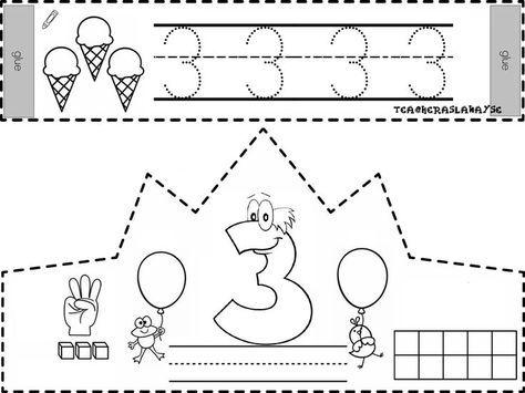 Arabic Style 3 Rakami Taci Numbers Kindergarten Preschool