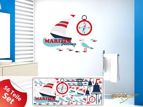 Wanddeko Wandsticker 771036 Badezimmer Maritim Feeling Ein