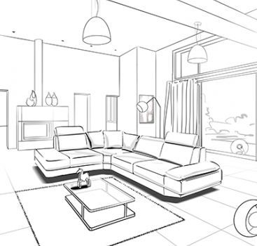 Rough Story Interior Design Sketches Interior Design Drawings
