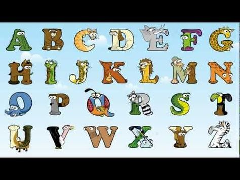 The Animal Alphabet - ABC Song by the Alphabetimals. Also has coloring pages, flash cards, and you can print out words with the alphabetimals.