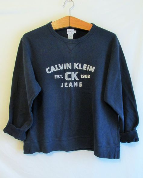 Calvin Klein Jeans Sweatshirt by thebreakvintage on Etsy   Hoodies and  Sweatshirts   Pinterest   Calvin klein jeans, Sweatshirt and Clothes