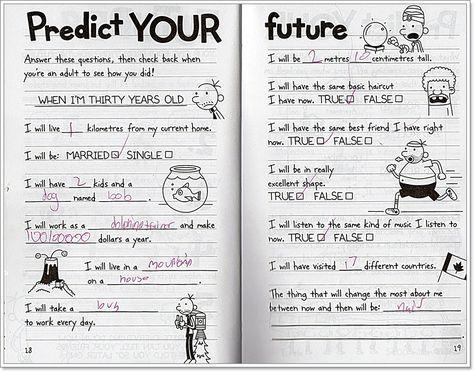 When I Grow Up Wot So Funee Wimpy Kid Books Wimpy Kid Kids Journal