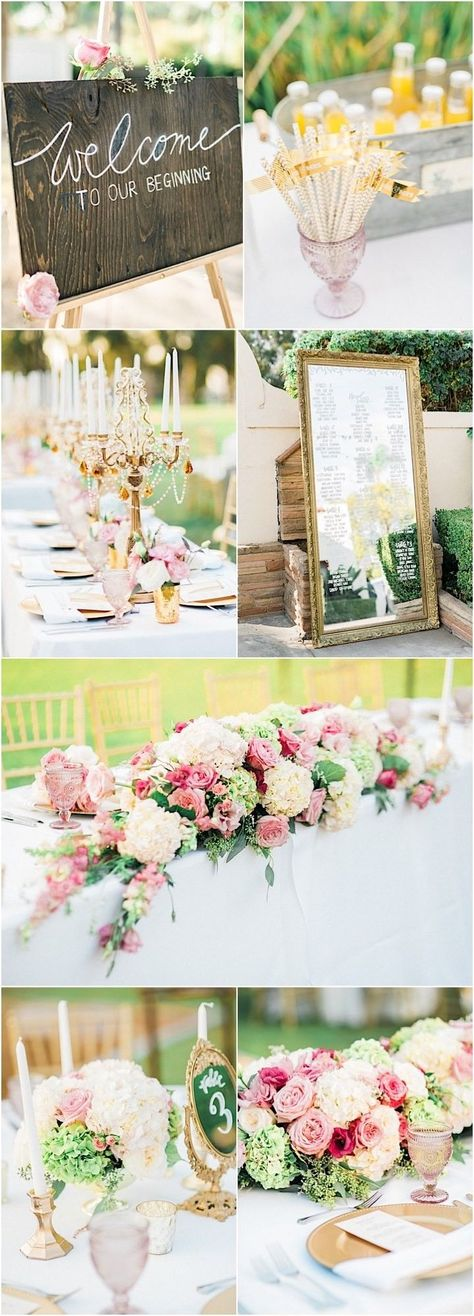 A summer wedding that is bright, beautiful and colorful. With a wedding sign and beautiful blossoming floras, this summer wedding will match your big day perfectly.  #summerwedding #springwedding #outdoorwedding #weddingideas