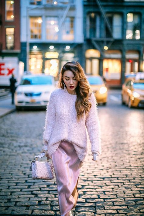 How to Pull Off Springs Trends in the Winter Pink Monochrome Outfit // Notjess
