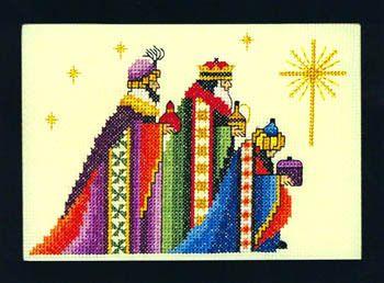 Three Magi Chart Counted Cross Stitch Patterns Needlework DIY DMC Color