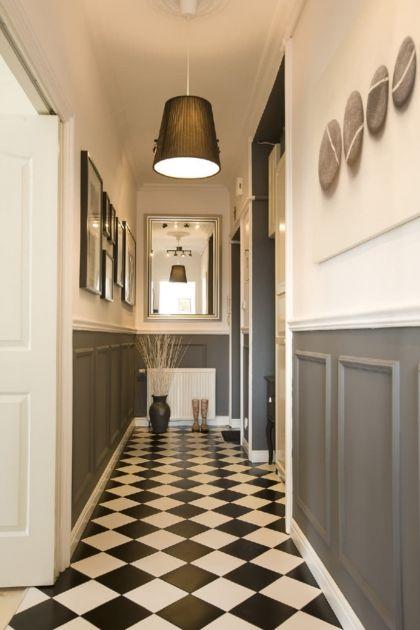 Couloir Gris Et Blanc Idees Deco Et Conseils Pour Un Couloir Moderne Couloir Gris Deco Parquet Idee Deco Couloir
