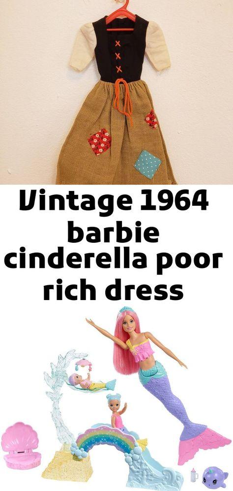 Vintage 1964 barbie cinderella poor rich dress mattel doll #872