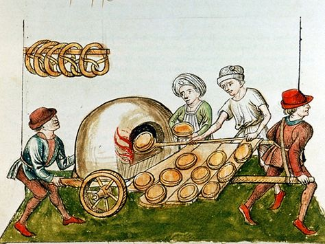A drawing of a medieval pie baker, circa 1465-1475.  For The Origins Of Pie, Look To The Humble Magpie http://www.npr.org