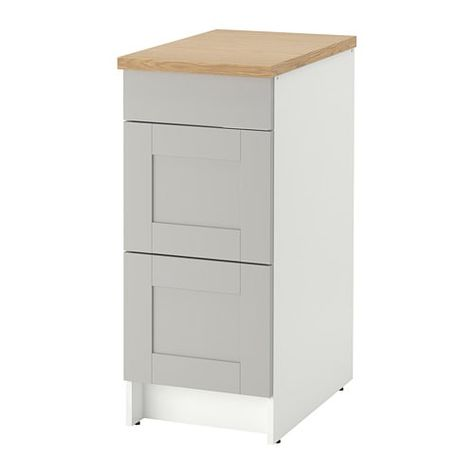 Ikea Knoxhult Gray Base Cabinet With