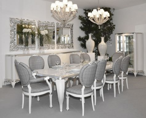 Cool Silver Dining Room Check More At Httpwwwlezzetlimama Stunning Black And Silver Dining Room Set