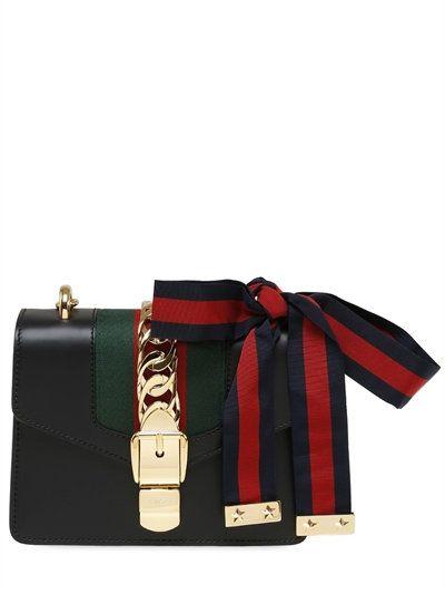 faf5fd704b029 Sylvie Small Chain-Embellished Leather Shoulder Bag