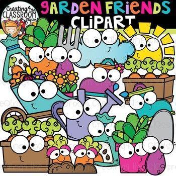 Garden Friends Clipart {Spring Clipart} | Teacherspayteachers