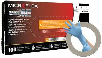 Microflex No 123 L Nitrile Nitron One Gloves 9 5 Large Large Pack Of 1000 In 2020 Gloves Packing One