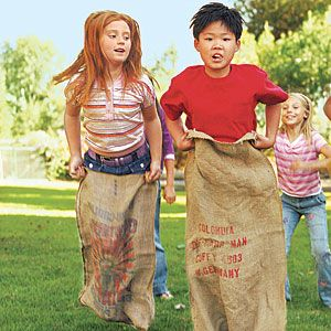Throw a low-cost yard party  Gather a gaggle of kids and keep them entertained with backyard games for all ages