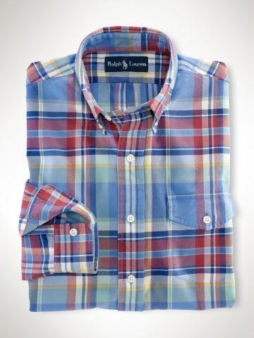 SportsX Mens Comfy Classic Classic Plaid Washed Non-Iron Dress Shirt