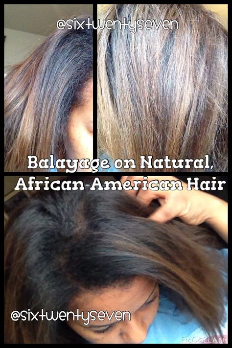 Results of the Balayage Technique on Natural, African-American Hair ...