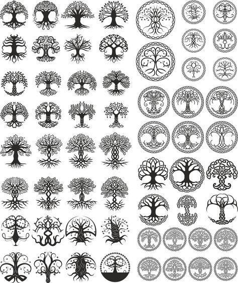 Tree. big set vector | Etsy