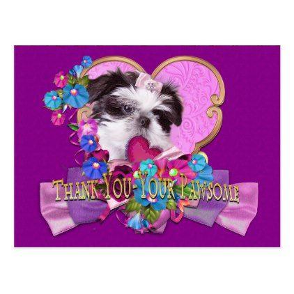 Shih Tzu Dog Christmas Gift Tags Present Favor Labels